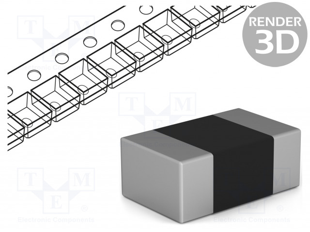 ROYAL OHM CQ05S8F3902T5E - Resistor: thick film