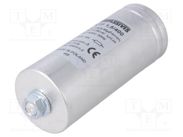 SR PASSIVES KTF-1.5/400 - Kondensaattori: polypropyleeni-