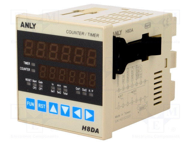 ANLY ELECTRONICS H8DA 12-48V AC/DC - Počitadlo: elektronický