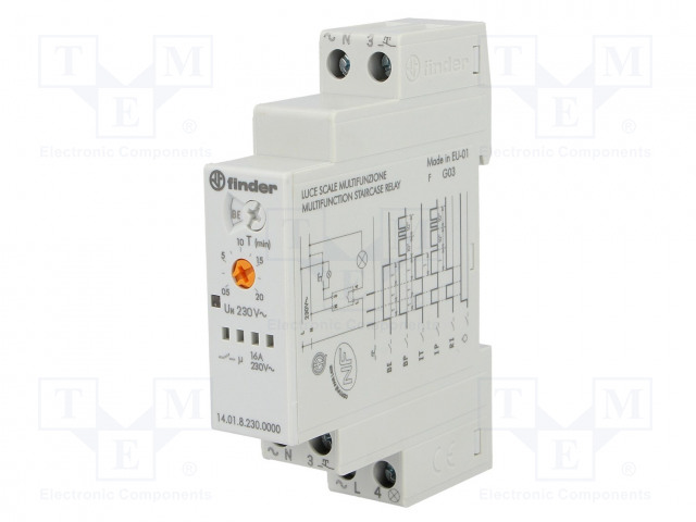 14 01 8 230 0000 FINDER - Staircase timer | TME - Electronic