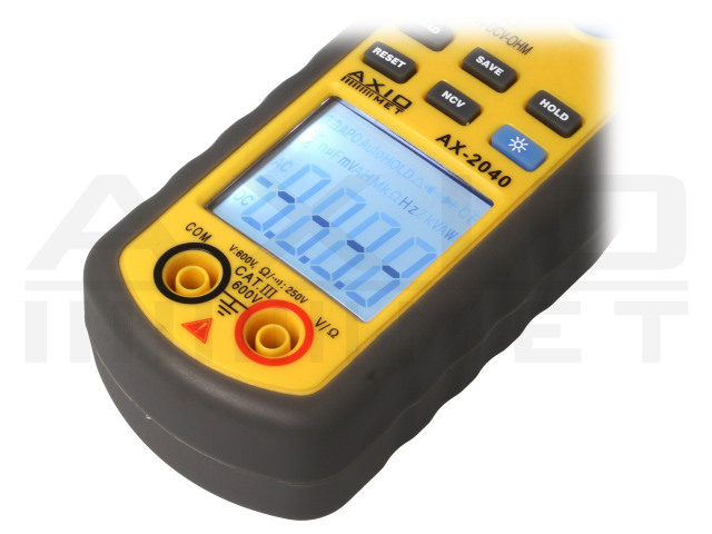 AX-2040 AXIOMET, Cleşte ampermetric digital AC