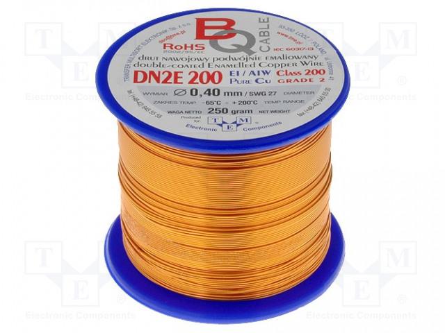 BQ CABLE DN2E0.40/0.25 - Drut nawojowy