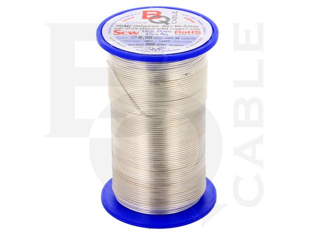 SCW-0.90/500 BQ CABLE, Postříbřený měděný drát