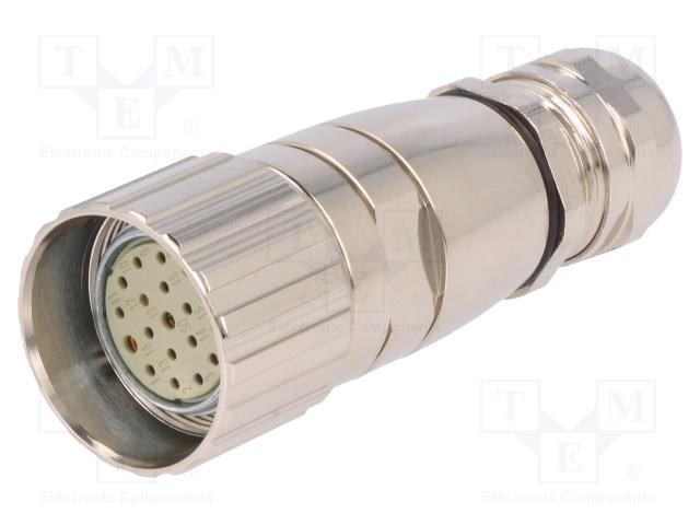 BULGIN PXMBNI23FBF19ASC - Connector: M23