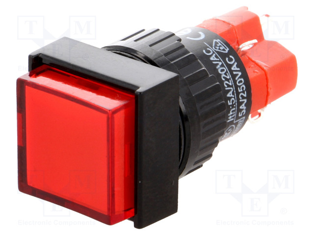 ONPOW V16F-11-230R - Switch: push-button