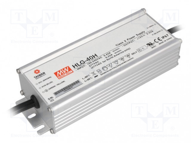 MEAN WELL HLG-40H-54 - Power supply: switched-mode