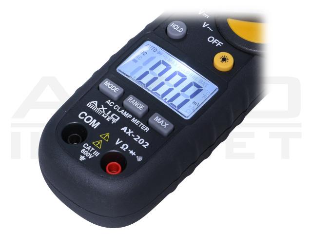 AX-202 AXIOMET, AC digitális lakatfogós multiméter