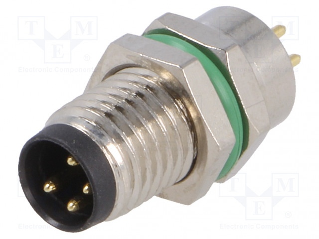BULGIN PXMBNI08RPM04APC - Connector: M8