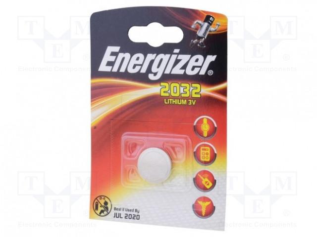 ENERGIZER CR2032 - Battery: lithium