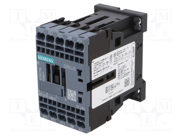 SIEMENS 3RT2015-2BB42 - Contactor: 3-pole