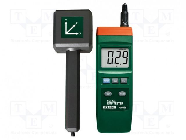 EXTECH 480826 - Aparat de măsură: intensitate câmp electromagnetic