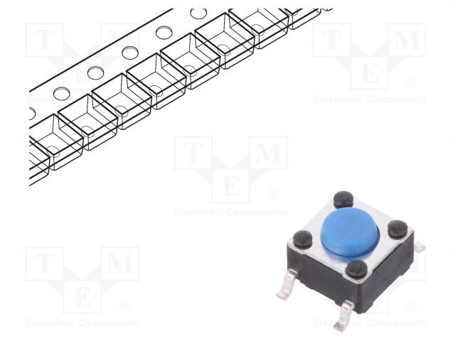 C&K PTS645SM43SMTR92 LFS - Mikrospínač TACT