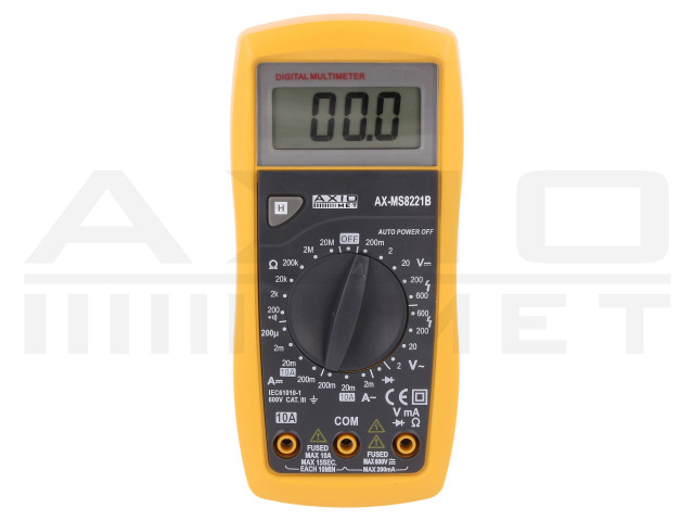 AX-MS8221B AXIOMET, Digital multimeter