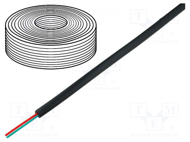 BQ CABLE TEL-0030-500/BK - Wire: telecommunication cable