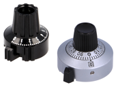 Precision knobs for shaft potentiometers