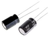 THT 105°C elektrolyyttikondensaattorit