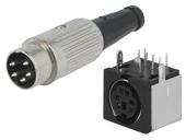Konektory DIN a mini DIN