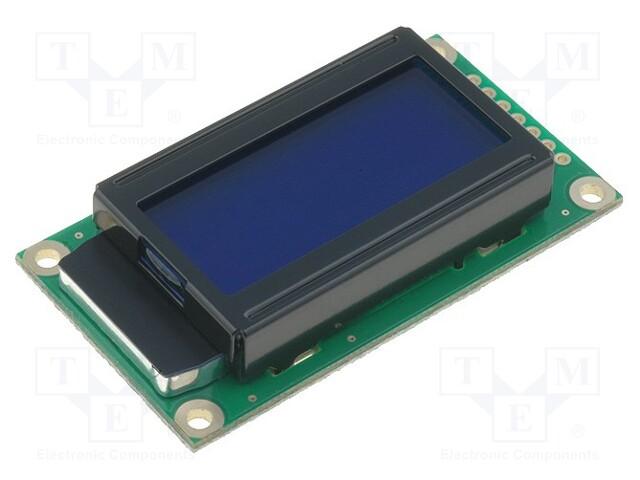 RAYSTAR OPTRONICS RC0802A-BIW-CSX - Display: LCD