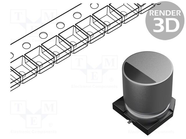 NICHICON GYA1H220MCQ1GS - Capacitor: hybrid