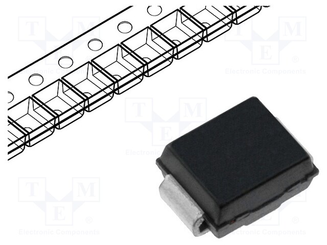 DIODES INCORPORATED SMBJ33CA-13-F - Diode: TVS