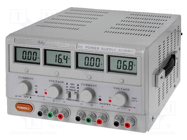 AXIOMET AX-3005D-3 - Napájecí zdroj: laboratorní