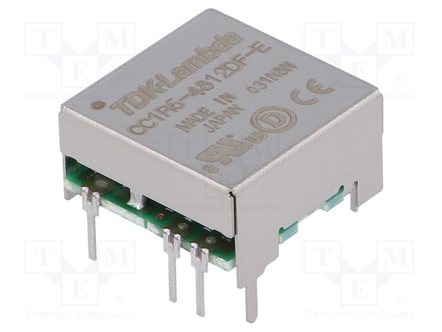 TDK-LAMBDA CC1R5-4812DF-E - Converter: DC/DC