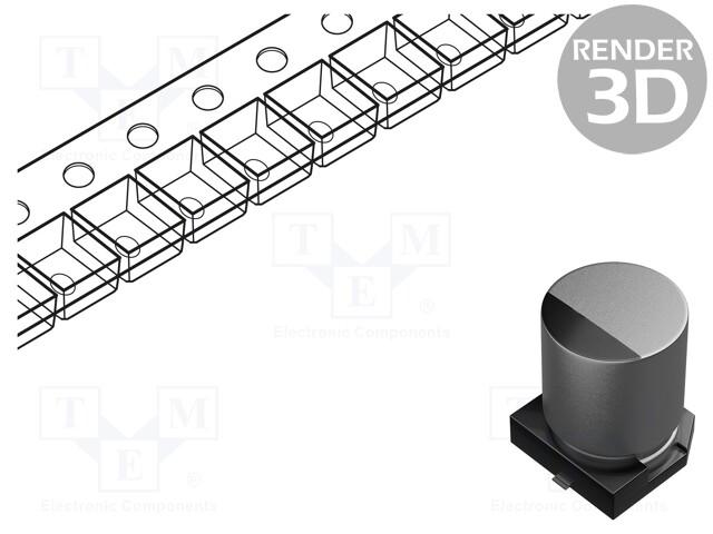 NICHICON GYA1C151MCQ1GS - Capacitor: hybrid