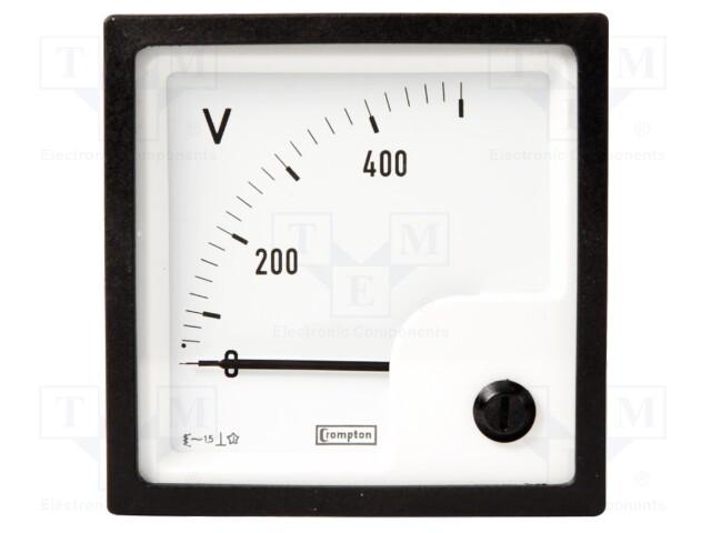 CROMPTON - TE CONNECTIVITY 039-40217-0400-400V-0-400V - Voltímetro