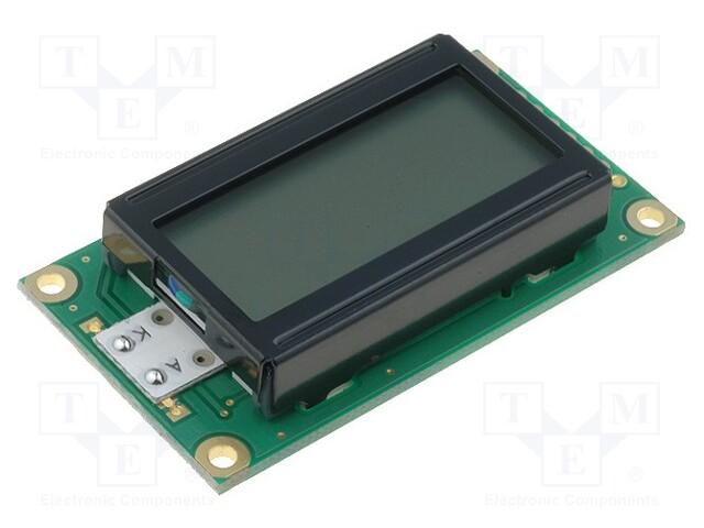 RAYSTAR OPTRONICS RC0802A-FHY-CSV - Display: LCD