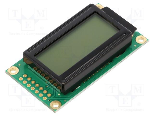 RAYSTAR OPTRONICS RC0802A-FHW-ESX - Display: LCD