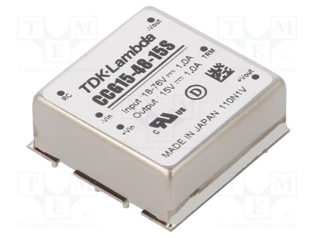 TDK-LAMBDA CCG15-48-15S - Converter: DC/DC