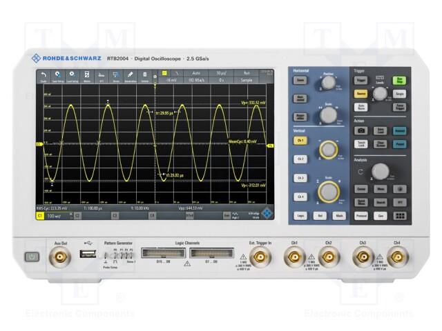 ROHDE & SCHWARZ RTB2K-COM4 - Oscilloscope: signaux mixtes