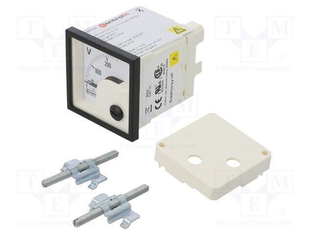CROMPTON - TE CONNECTIVITY 039-40217-0250-250V-0-250V - Voltímetro